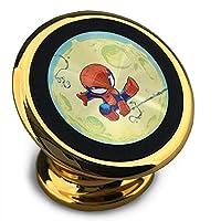 スパイダーマン 磁気電話カーホルダー、360°調整可能な携帯電話クレードル、スタイリッシュで耐久性