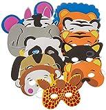 [ロードアイランドノベルティー]Rhode Island Novelty 12 Assorted Foam Animal Masks for Birthday Party Favors DressUp Costume RN COMASFA [並行輸入品]