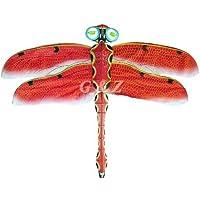 ミディアム レッド 3D シルク とんぼ 凧 中国製 ハンドメイド カイト