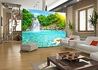 xli-you 3d壁紙3d壁紙カスタム壁画壁ステッカー3d Sun露出の湖に小さなWaterfall 3d壁壁画壁紙ステッカー壁画 XLi-You45282-6026
