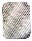 (Rarihima) おむつ替えシート オムツ変えマット 防水 おねしょシーツ オーガニック コットン 五彩の縞 (小:50×35cm)