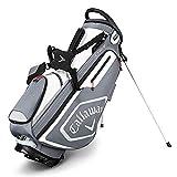 (Titanium/White/Silver) - Callaway CHEV Golf Stand Bag, Titanium/White/Silver