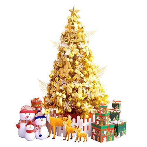 VeroMan クリスマス ツリー ゴールド オーナメント ツリースカート 飾り 豪華 セット 150cm