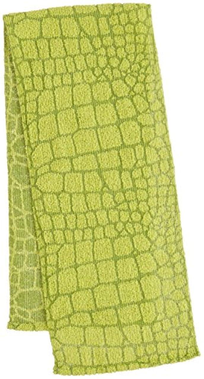 透明に納税者崇拝するマーナ サファリボディタオル クロコダイル グリーン B545G