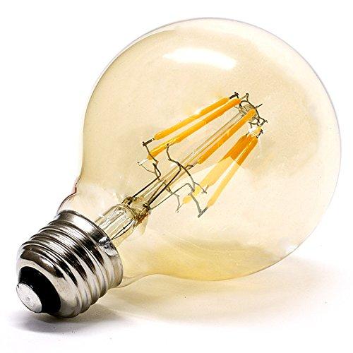 【エジソン東京】 LED フィラメント電球 G125 ボール球 アンティーク色 8W ビンテージ エジソン電球 クリア電球 E26口金 PSE