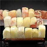 ShanTrip 豪華 寿山石 篆刻 石 セット 天然石 印石 篆刻 キット (5個, 角石)