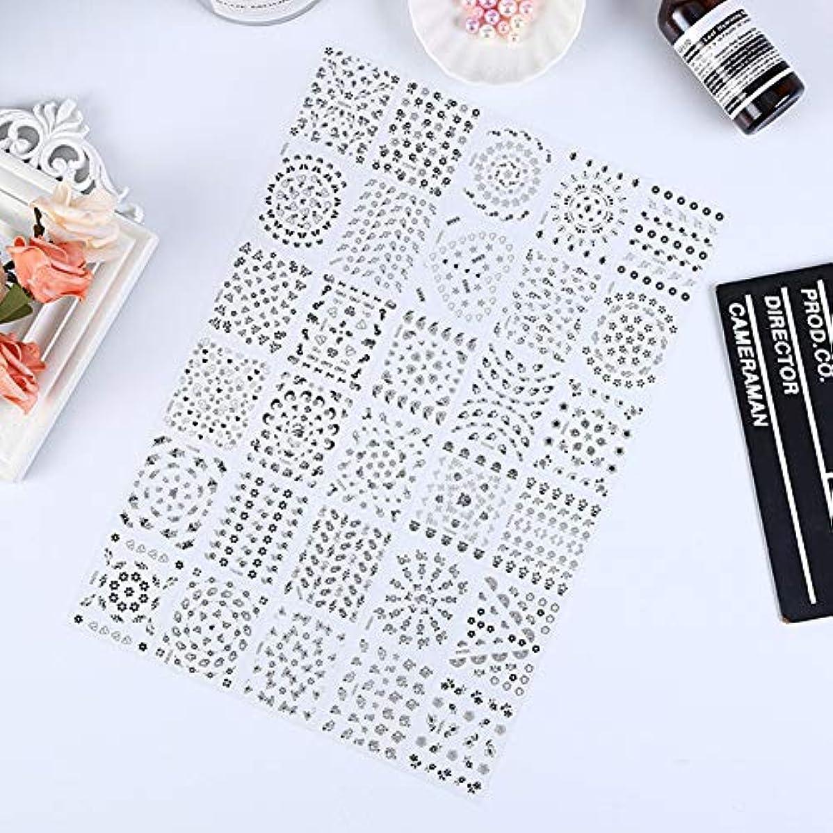 小数虎バーベキューMurakush ネイルステッカー 10個 3D 透明 ボトムフラワーシリーズ 黒と白 高級感 欧米風 ネイルステッカーデコレーション 10 black flowers