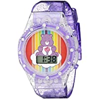 Care Bears Girls' Quartz Watch with Silicone Strap, Purple, 18.5 (Model: CRB4006