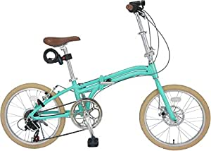 【Amazon.co.jp限定】JEFFERYS(ジェフリーズ) 折りたたみ自転車 20インチ AMADEUS Hunter Fox 軽量アルミフレーム 約12.0kg シマノ6段変速 LEDライト/ワイヤーロック/スタンド/フロントディスクブレーキ 標準装備 JP-8610 ライトグリーン