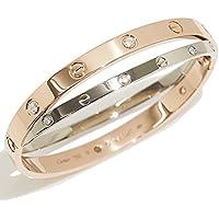 カルティエ Cartier ラブ ブレス 12P ダイヤ #17 K18 PG/WG 18金 750 ブレスレット バングル love【中古】 90031105
