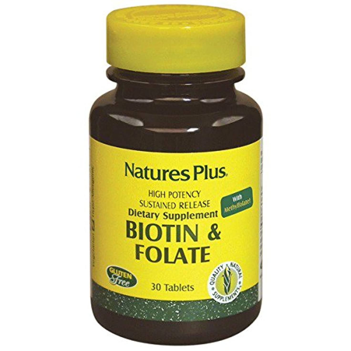 Biotin/Folic Acid Time Release Nature's Plus 30 Sustained Release Tablet by Nature's Plus