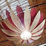 バリ アジアン照明 ランプ バリウッド:ブンガマタハリな可愛くておしゃれでスッテキーなランプです。ナチュラル&レッド
