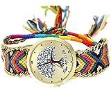 ミサンガ ウォッチ ブレスレット 腕時計 バングル カラフル (A8)