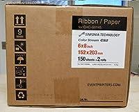 """Sinfonia cs26x 8""""印刷メディア( 300)印刷します。用紙&リボンキット。For Use With Sinfoniaカラーストリームcs2プリンタ。無料サンプルwith当社売れ筋の写真フォルダ( eventprintersブランド)。"""