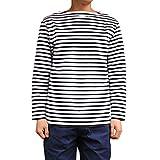 Orcival(オーチバル)ボーダーボートネックバスクシャツ【B211】[正規取扱] (4(Mens), WHITE/BLACK)
