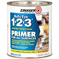 rust-oleum 2004Zinsser Bulls Eye 1–2- 3ホワイト水性内部/外部下塗りシーラー、1-quart 1クォート 2004 1