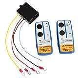 RAXFLY 12-24V 電動ウインチワイヤレスリモコンシステム ウインチwarn用受信機 ワイヤレスリモコン 制御スイッチ バッテリー付き