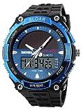 腕時計 メンズ スポーツ アウトドア ソーラー 防水 デジタル ファション ブランド クロノグラフ [並行輸入品]