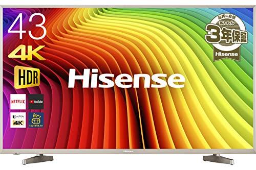 ハイセンス 43V型 4K対応 液晶 テレビ HDR対応 外付けHDD 録画 裏番組録画 メーカー3年保証 HJ43N5000