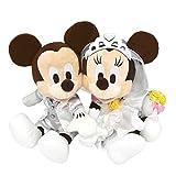 ディズニー ウェディング ミッキー ミニー マウス ぬいぐるみ ペア セット 小 (ティアラベール) 結婚 式 祝い プレゼント ( リゾート限定 )