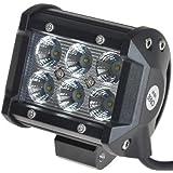 KAWELL® 高輝度18W CREE製 LED 作業灯 ワークライト 1260 LM 6000K 農業機械 建設機械 トラック ダンプ 荷台灯 バギー オフロード車両や公園 庭の照明など様々な場面で活躍 防水防塵 LEDワークライト作業灯
