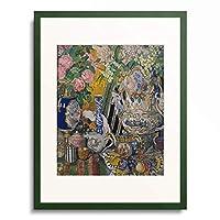 Alexander Jakowlev Golowin 「Stillleben mit Porzellan-Gefassen und Blumen. 1915.」 額装アート作品