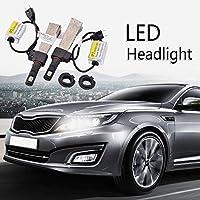 FidgetGear 2×4800LM P7 H7-6000K車明るいLEDヘッドライト電球ホワイトコンバージョンランプ