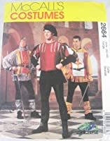 McCalls 2664 Medieval Costume Pattern Mens Large 42-44 by McCall