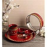 Itiha Karwachauth/Karvachauth Indian Traditional Decorative Pooja thali Beautiful Ethnic Gift/Kankavati/Diwali/Indian Handicr
