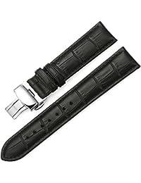 iStrap 時計ベルト 13mm Dバックル尾錠 交換ベルト鰐皮紋様 6色 腕時計 ストラップ 本革 おしゃれ 耐水性 【バネ棒外しセット】