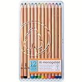 トンボ鉛筆 色鉛筆 F木物語 12色 CP-RF0312C オレンジ プラケース入