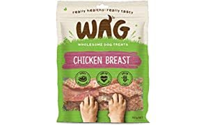 WAG Chicken Breast 750g, Grain Free Natural Dog Treat Chew, Healthy Alternative Perfect for Training