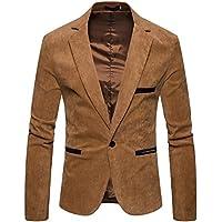 Cottory Mens Slim Fit Stylish One Button Blazer Corduroy Sport Jacket