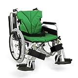 カワムラサイクル アルミ製 自走式車椅子 座幅42 前座高40.5 エコ黒 モジュールタイプ 肘跳ね上げ KA820