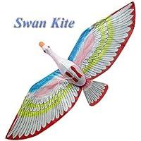 レッド翼白鳥Kite – Chinese手作りシルクKites
