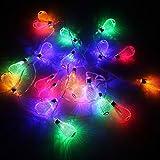 イルミネーションライト 屋外 乾電池式 ハロウィン装飾 クリスマスライト 庭 室内の飾り LEDジュエリーライト 結婚式 七夕 パーティー 20球 ミックス TOPAIM ZONTEN