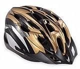 【ノーブランド品】クールスタイル! 超軽量 高剛性! 自転車用 サイクリング ヘルメット (ゴールド&ブラック)