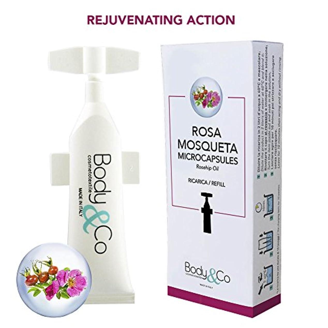 電気技師臨検帝国主義Body&Co Cosmetic Refill 10 ml Rosa Mosqueta Oil (OLIO DI ROSA MOSQUETA 10 ML, 2 REFILLS 10 ML)