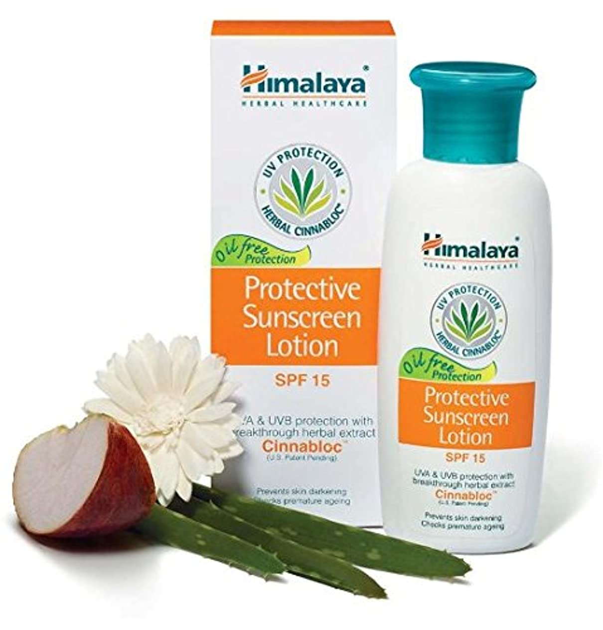ルアースキャンダル定期的Himalaya Protective Sunscreen Lotion SPF 15 100ml