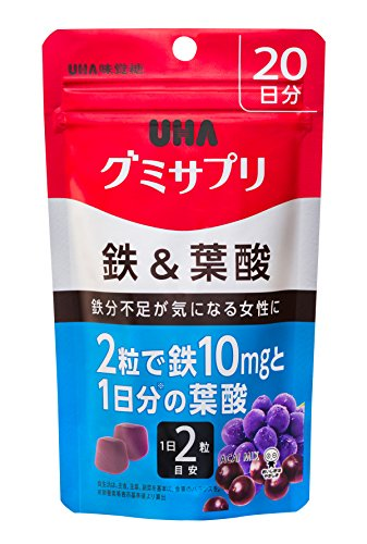 UHA味覚糖 グミサプリ 鉄&葉酸 20日分 B01JKHIEYM 1枚目