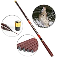ENLI 炭素釣り竿 渓流竿 カーボンハンドレバー短いセクション 超軽い 超硬い