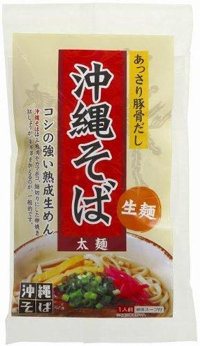 沖縄そば 生麺 あっさりとんこつスープ 1食(135g)×12袋 琉津 コシの強い熟成生めん 豚骨とかつお節エキスのコクのあるスープ 沖縄土産にぴったりの一品