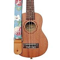MUSIC FIRST®「苺の花」ソフトコットンウクレレストラップウクレレショルダーストラップ (苺の花)