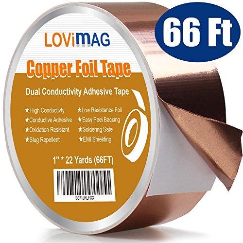 導電性銅箔テープ1インチx 22yards ) with Adhesive forギター& EMIシールド、撥Slug、工芸品、電気修理、接地