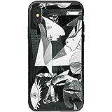 iPhone8 iPhone7 iPhoneSE(第2世代) スマホカバー ケース 背面アクリル/ガラスジャケット型 ゲルニカ Guernica ピカソ 画家 art0008 受注生産