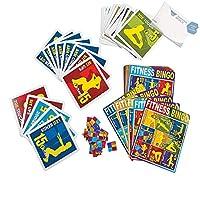 Bargain World 段ボールフィットネスビンゴ(付箋付き) 20 Set(s) B4963733147908W