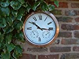 Amazon|[プリムローズロンドン] Primrose London 屋外ガーデン用・壁掛け時計 37cm (14.6