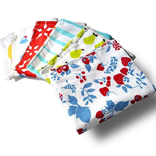 ブルーム ガーゼタッチ ハンドタオル 日本製タオル デザインおまかせ6枚セット ot6