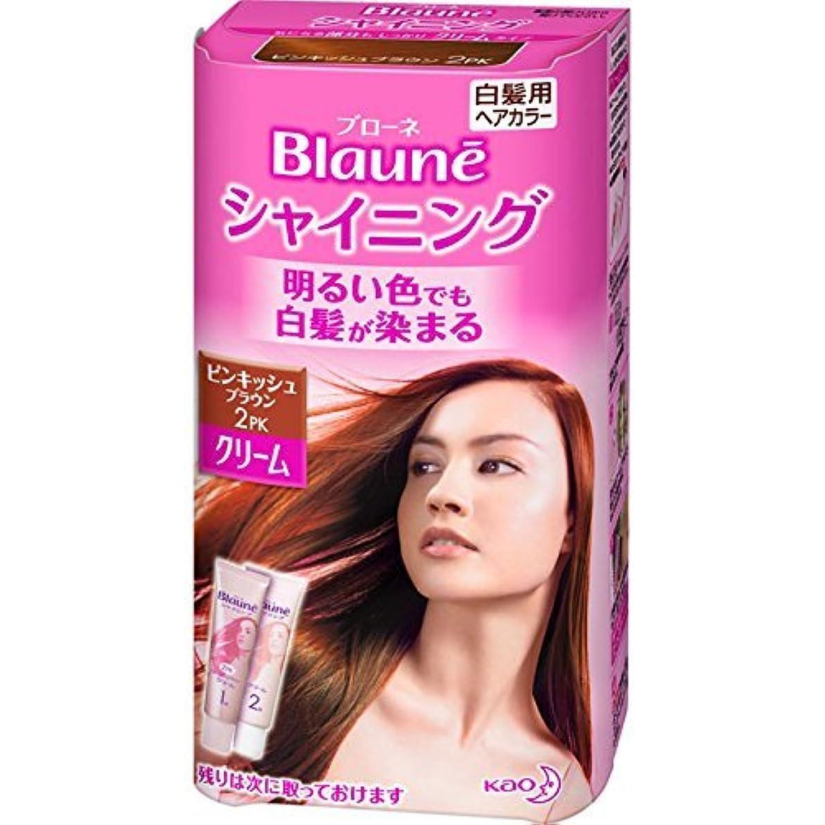 けがをする勝利したノーブル花王 ブローネ シャイニングヘアカラー クリーム 2PK 1剤50g/2剤50g(医薬部外品)《各50g》