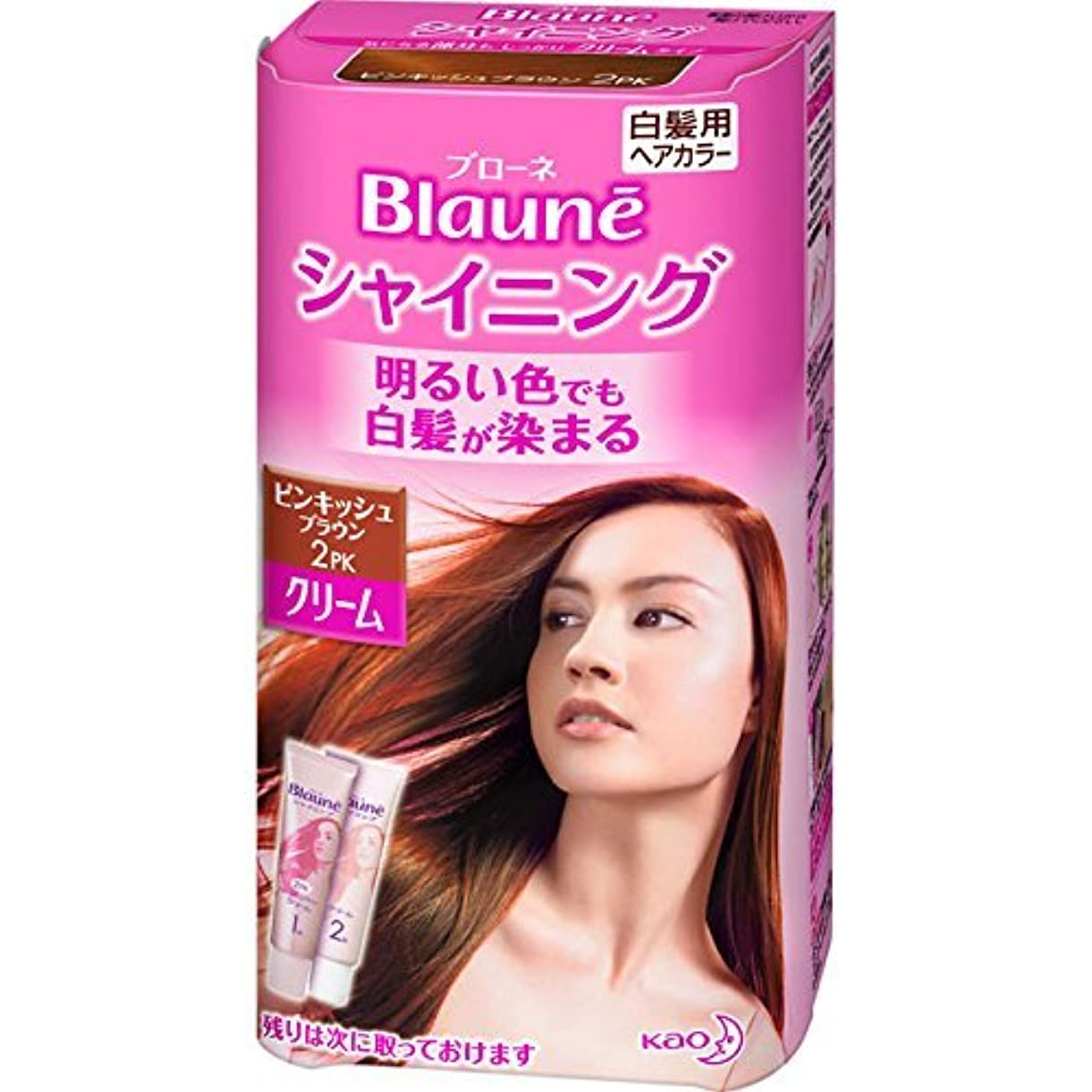 微妙くつろぐ注釈を付ける花王 ブローネ シャイニングヘアカラー クリーム 2PK 1剤50g/2剤50g(医薬部外品)《各50g》
